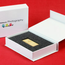 Attached Lid Flash Drive Boxes