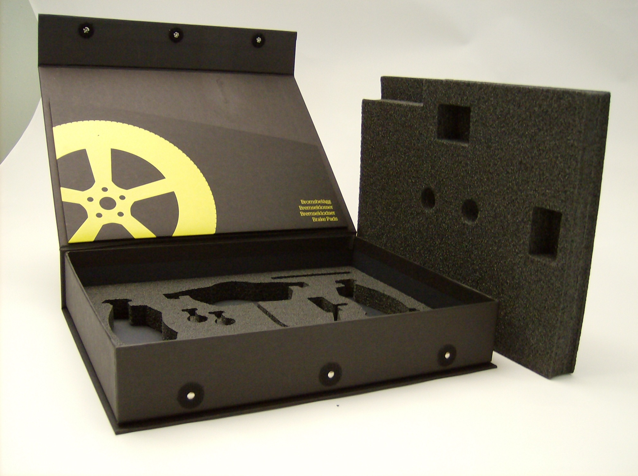 Flip top Rigid Box with Foam Insert - High End and Durable