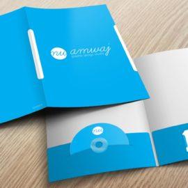 Presentation folder image Blue color