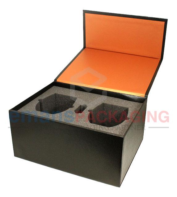 Flip top rigid Box with foam insertion