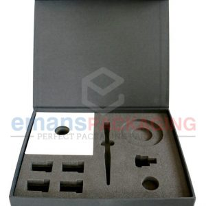 Flip top rigid Box with foam insertion