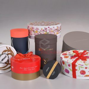 Colorful Custom Round Rigid Boxes