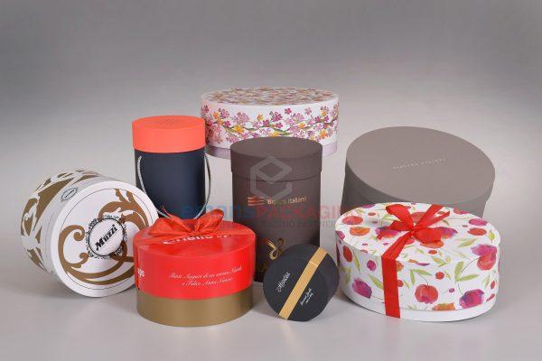 Colorful Custom Round Rigid Boxes