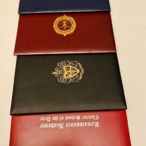 Custom Printed Padded Certificate Holders